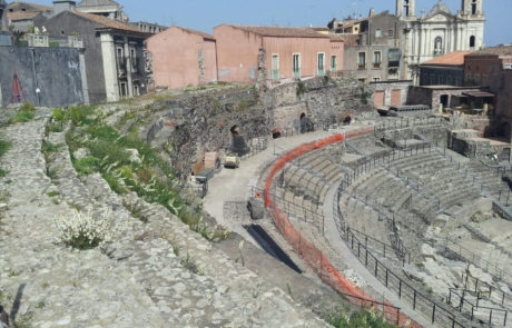 Rilievo Laser scanner del Teatro greco romano di Catania