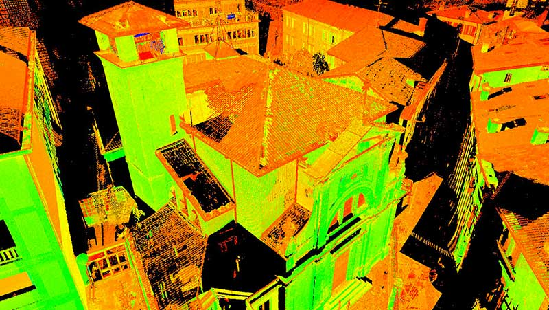 Rilievo laser scanner Verona, veneto, Italia