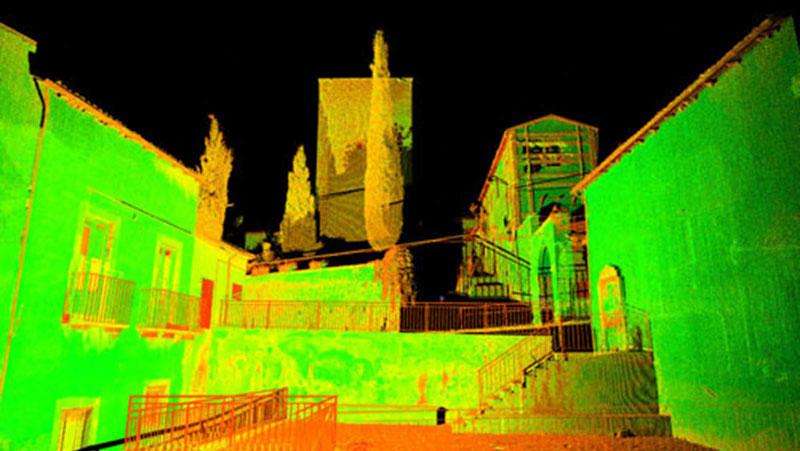 Rilievo laser scanner l'Aquila, Italia