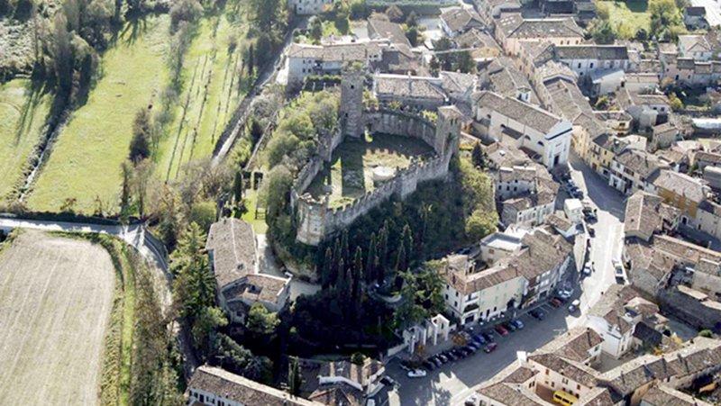 Rilievo del Castello Scaligero di Ponti sul Mincio Mantova