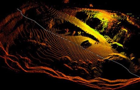 Rilievo Laser scanner Cava colle Prelara, Castel di Ieri (AQ)