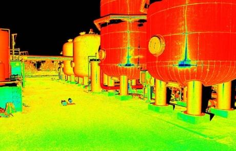 Petrignano rilievo laser scanner impianto industriale nuvola di punti
