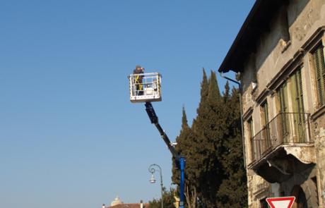 Rilievo Laser scanner del palazzetto Fontana, Verona