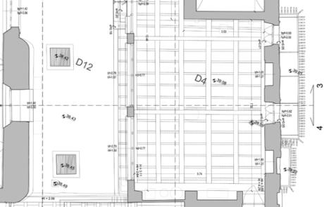 Restituzione grafica di rilievo architettonico Museo Archeologico al Teatro Romano, Verona