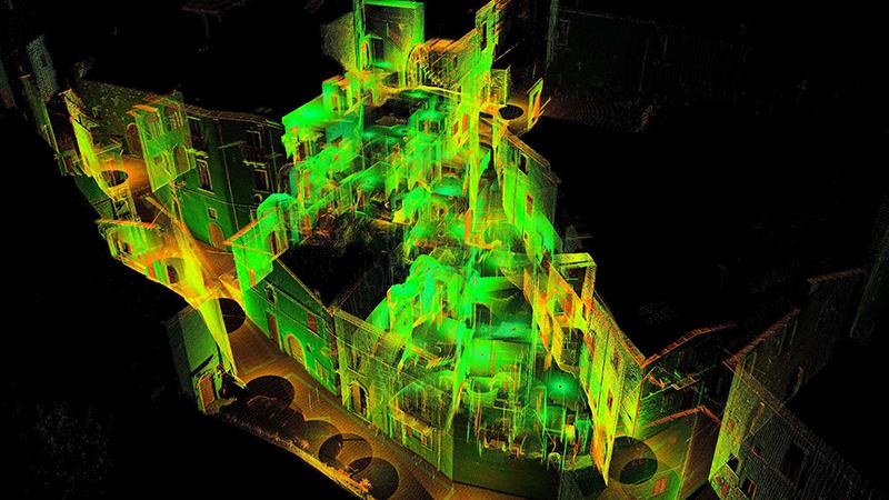 Rilievo Laser scanner ricostruzione post terremoto L'aquila