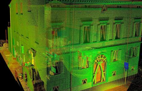 Rilievo laser scanner ricostruzione post-sisma, Emilia Romagna