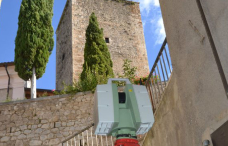 Rilievo Laser scanner Castel di Ieri (AQ)