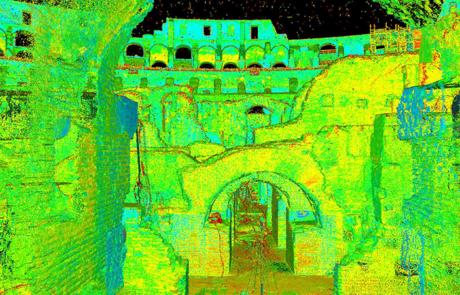 Rilievo Laser scanner del Colosseo di Roma